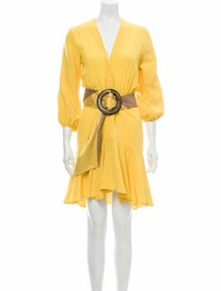 Silvia Tcherassi V-Neck Mini Dress Yellow