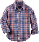 Carter's Check Button Down Shirt (Toddler/Kid) - Plaid - 5T