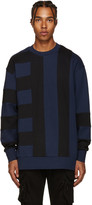 Diesel Black Gold Blue & Black Bonded Pullover