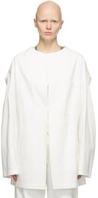 Y's Ys White U-Drop Jacket