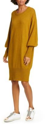 NSF Elise Balloon Sleeve Cotton Blend Sweater