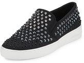MICHAEL Michael Kors Keaton Studded Slip-On Sneaker, Black