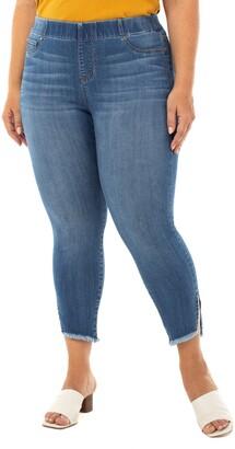 Liverpool Chloe Fray Hem Side Slit Pull-On Crop Skinny Jeans