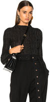 Proenza Schouler Lurex Turtleneck Sweater in Black,Metallics.