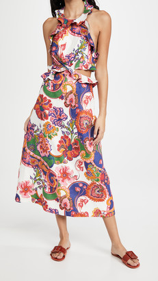Zimmermann The Lovestruck Tie Back Midi Dress