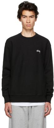 Stussy Black Stock Logo Sweatshirt