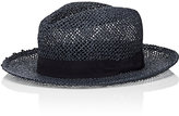 Barneys New York MEN'S ALESSANDRIA ART STRAW FEDORA