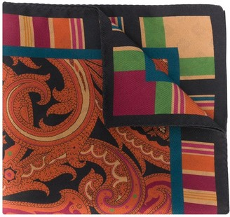 Etro Paisley-Print Square Scarf