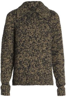 Dries Van Noten Mitchie Spread Collar Alpaca & Merino Wool-Blend Sweater