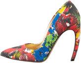 Walter Steiger Floral Pointed-Toe Bowed-Heel Pump