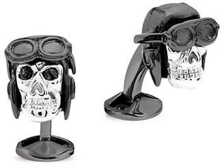 Tateossian Aviator Skull Cufflinks
