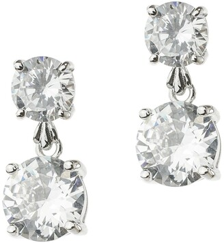 Cz By Kenneth Jay Lane CZ Round Graduated Drop Earrings