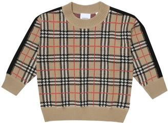 BURBERRY KIDS Vintage Check merino wool sweater