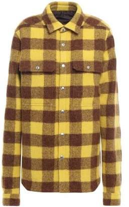 Rick Owens Gingham Alpaca And Wool-blend Jacket