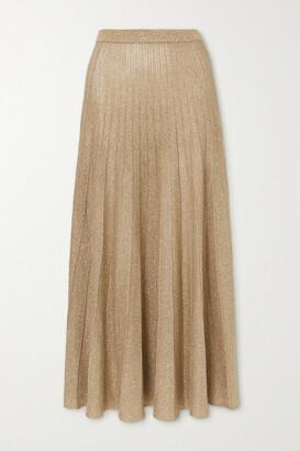 Joseph Pleated Lurex Skirt