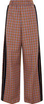Golden Goose Deluxe Brand Sophie Velvet-trimmed Wool-blend Wide-leg Pants