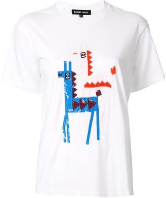 Markus Lupfer Anna sequinned llama T-shirt