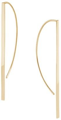 Lana 14K Gold Long P-Hoop Earrings