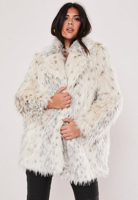 Missguided Plus Size Premium Cream Faux Fur Jacket