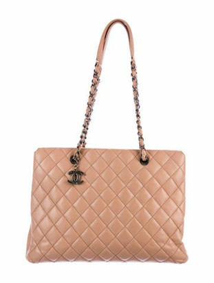 Chanel 2015 Caviar City Shopping Tote Beige
