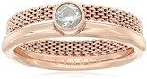 Skagen Elin Rose Gold Tone Stackable Ring, Size 9
