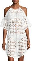 6 Shore Road Sante Fe Crochet Swim Coverup Dress