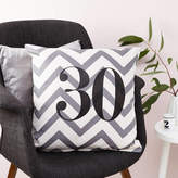 Tillie Mint Loves Personalised Chevron Birthday Number Cushion