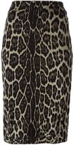 Samantha Sung animal print pencil skirt