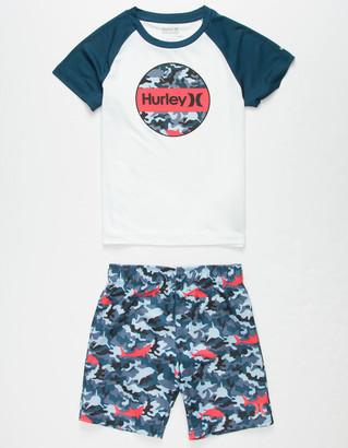 Hurley Shark Bait Little Boys Swim Set (4-7)