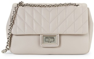 Karl Lagerfeld Paris Diamond Quilted Clutch Crossbody Bag