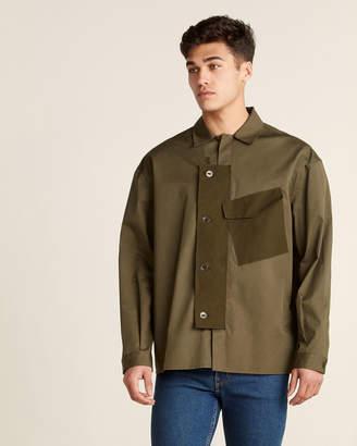 Oamc Contrast Suede Pocket Shirt Jacket