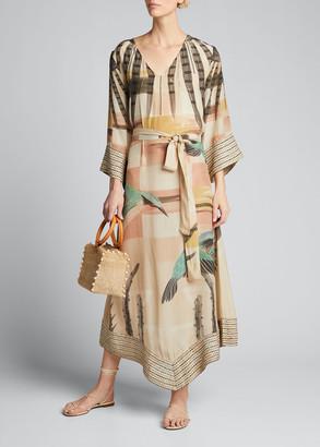 CHUFY Nanuk Bird Print Tunic Dress