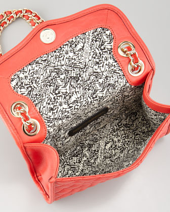 Rebecca Minkoff Quilted Affair Mini Shoulder Bag, Fire Engine
