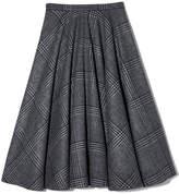 Rochas Lobelyas Gonna Skirt in Grey/Black, Size IT 40