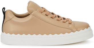 Chloé Lauren Almond Leather Sneakers