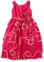Jayne Copeland 2T-6X Double-Bow-Trimmed Soutache Dress