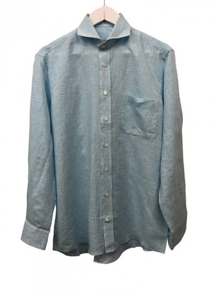 Casely Hayford Casely-hayford Blue Linen Shirts