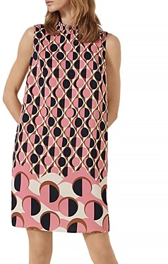 Marella Kabuki Geo Print Shift Dress