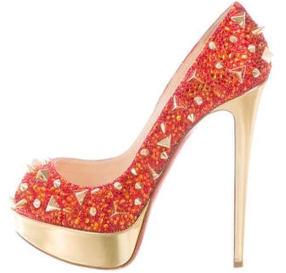67746ee5ffe Very Mix Strass Spike Pumps Red Very Mix Strass Spike Pumps