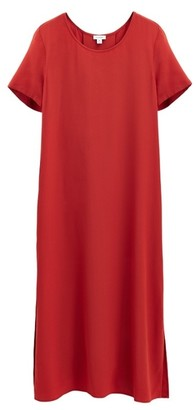 Cuyana Silk Pleat-Back Tee Dress