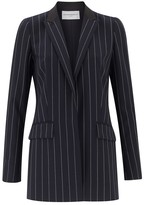 Amanda Wakeley Ascent Midnight Pinstripe Jacket