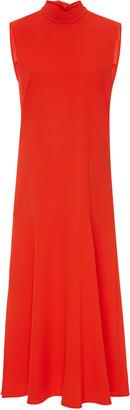 Victoria Victoria Beckham Crepe Tie-Neck Midi Dress