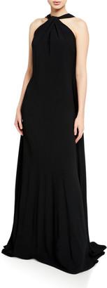 Victoria Beckham Sleeveless Halter-Neck Column Gown
