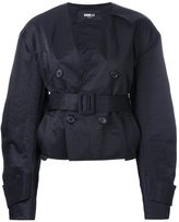 Yang Li short aviator jacket