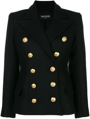 Balmain Double Breasted Fitted Jacket
