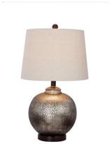 Fangio Lighting W-5124 Table Lamp, Oil Rubbed Bronze Metal, Antique Brown Mercury Glas