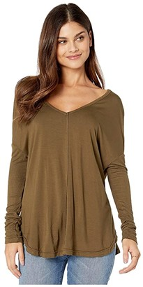 Free People Moonshine Tunic (Army) Women's Clothing