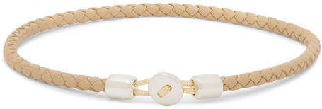 Miansai Nexus Sterling Silver And Leather Bracelet