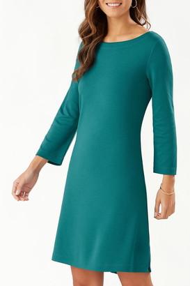 Tommy Bahama Drapey Ponte 3/4-Sleeve Dress