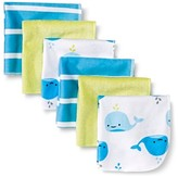 Circo Baby Boys' 6 Pack Whale Print Lightweight Washcloth Set